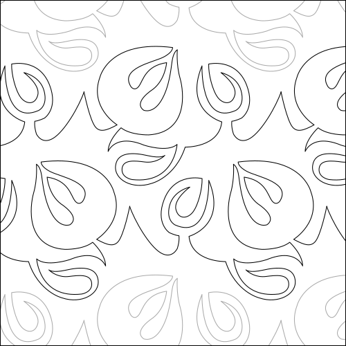 Twirling Tulip - quilting pantograph