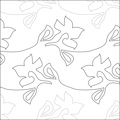 Wall Flower - quilting pantograph