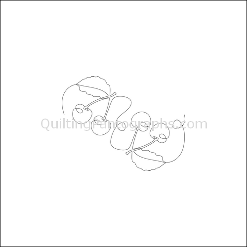Cherries Jubilee - quilting pantograph