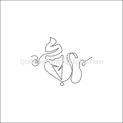 Ice Cream Cone - quilting pantograph