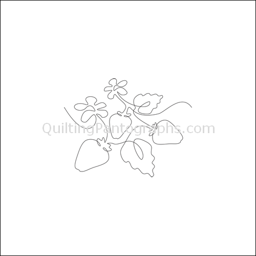 Strawberry Patch - quilting pantograph