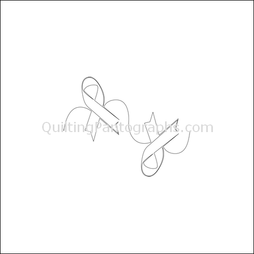 Cancer Ribbon - quilting pantograph