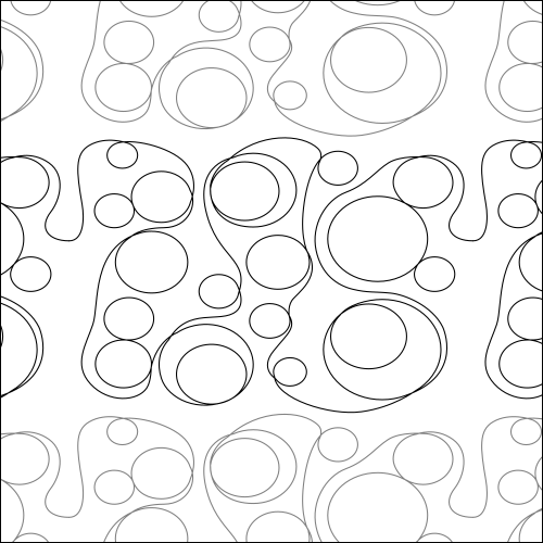 Bubble Circles - quilting pantograph
