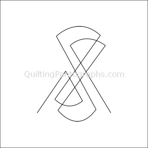 Hourglass Melody High - quilting pantograph