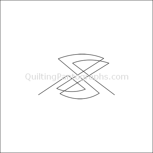 Hourglass Melody Low - quilting pantograph