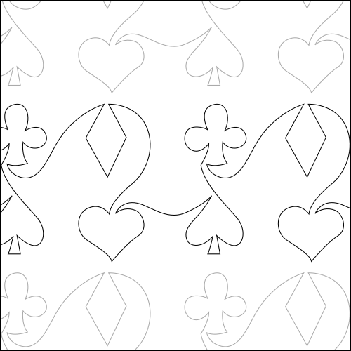 Playing Cards - quilting pantograph