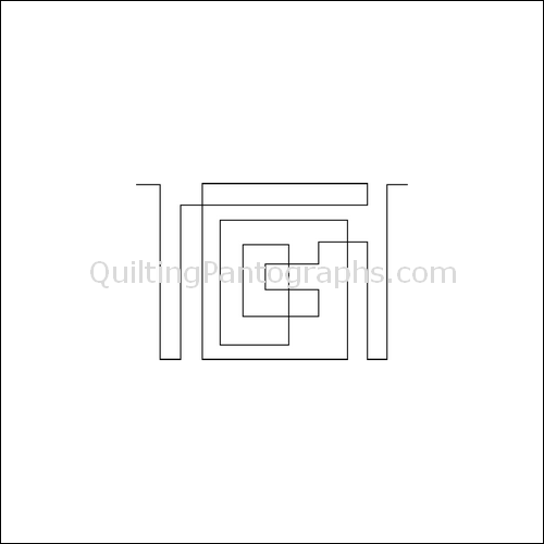 Square Maze Border - quilting pantograph