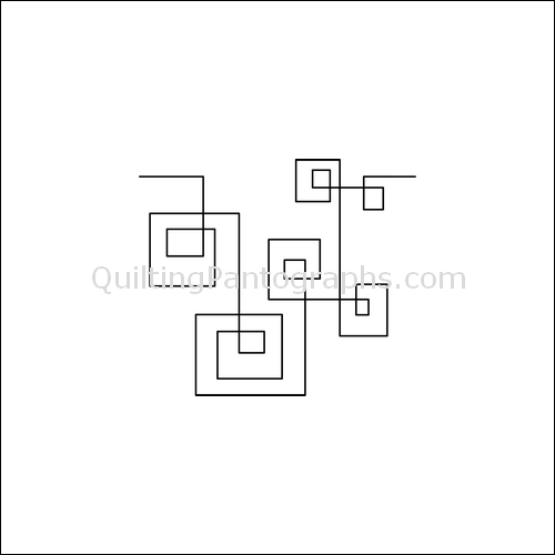Square Parade - quilting pantograph