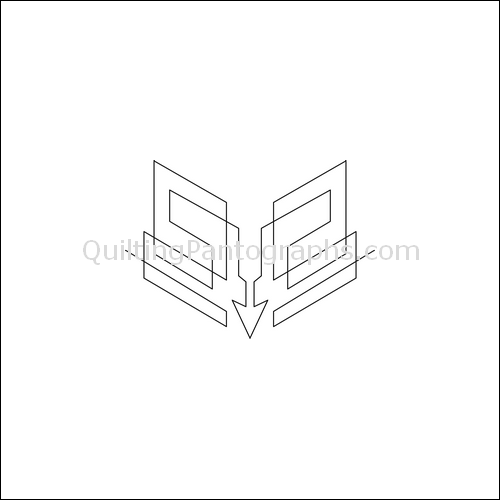 Squared Arrow - quilting pantograph