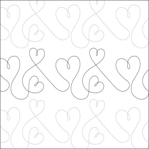 Dancing Hearts - quilting pantograph