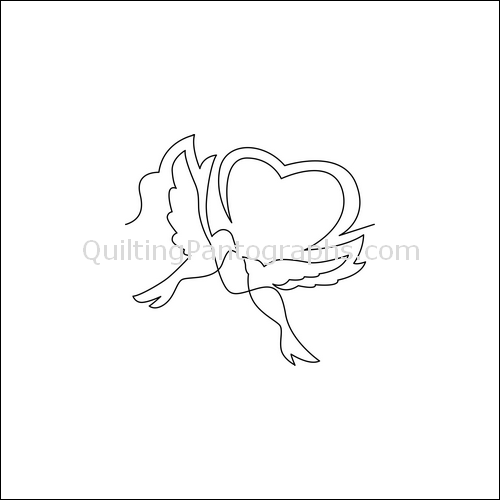 Love Birds - quilting pantograph