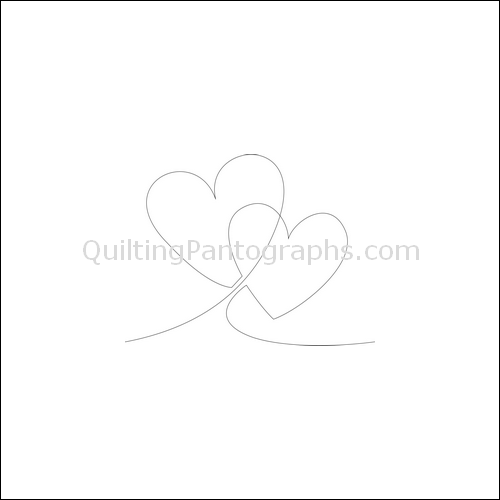 Two Hearts - quilting pantograph