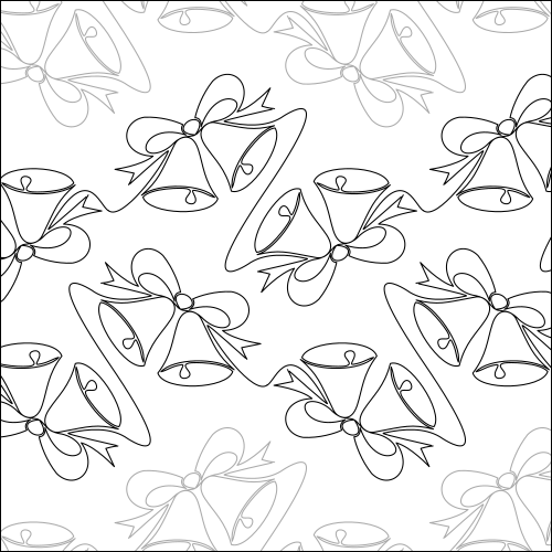 Christmas Bells - quilting pantograph