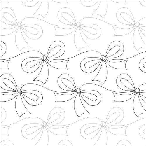 Christmas Bow - quilting pantograph