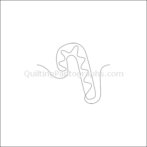 Christmas Candycane - quilting pantograph