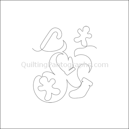 Christmas Cookies - quilting pantograph