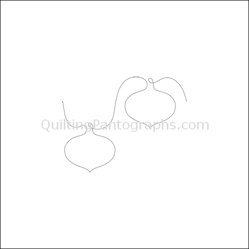 Christmas Ornaments Clear - quilting pantograph
