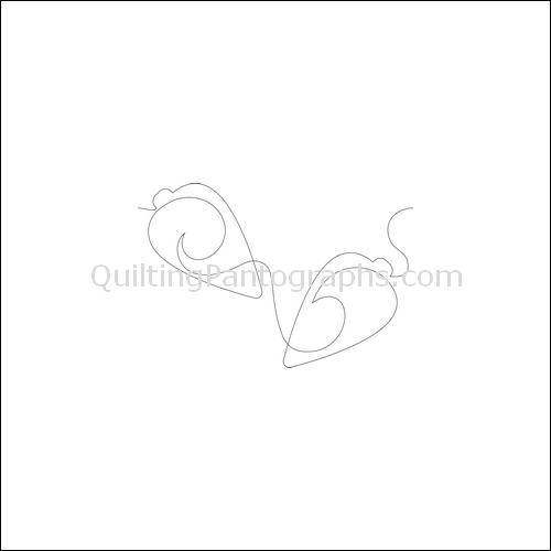 Christmas Ornaments Swirls - quilting pantograph