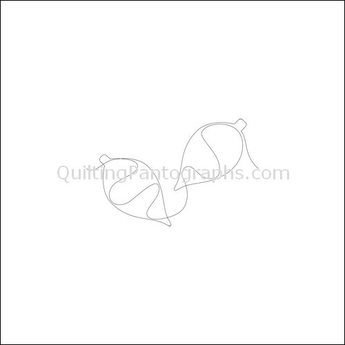 Christmas Ornaments Teardrop - quilting pantograph