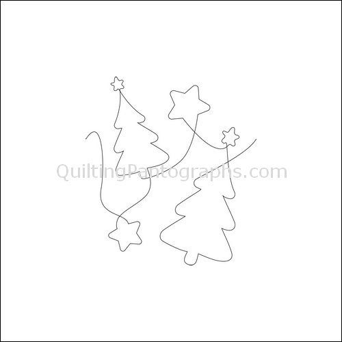 Christmas Tree Stars - quilting pantograph