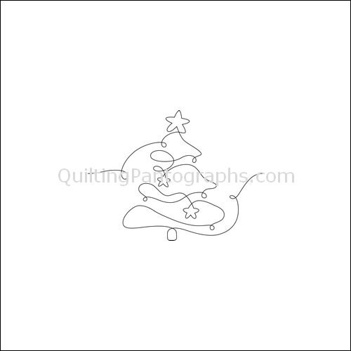Christmas Tree - quilting pantograph