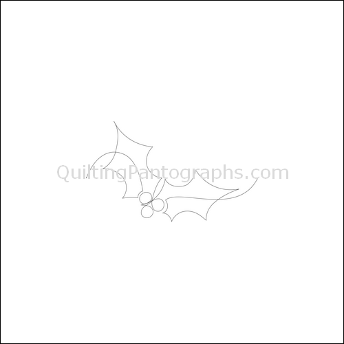 Holly Leaves - quilting pantograph