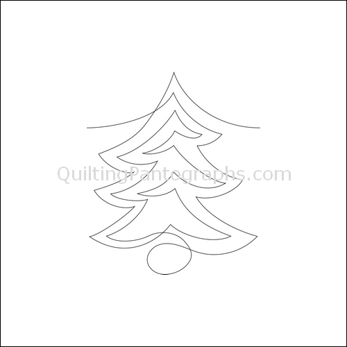 Rick's Noble Trees - quilting pantograph