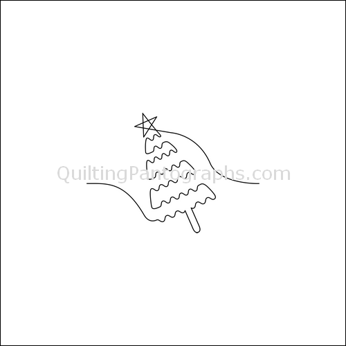 Singing Christmas Tree - quilting pantograph