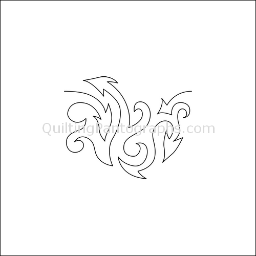 Dragon Tails - quilting pantograph
