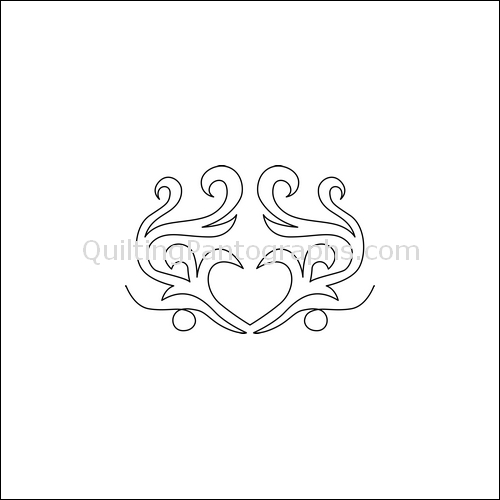 Swan's Love - quilting pantograph