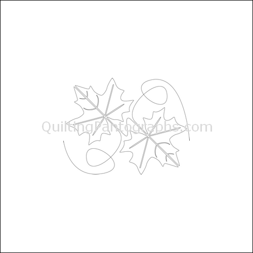 Autumn Leaves - quilting pantograph