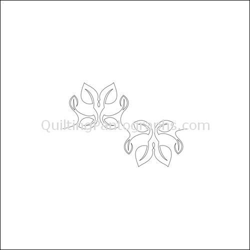 Dancing Leaves Flip - quilting pantograph