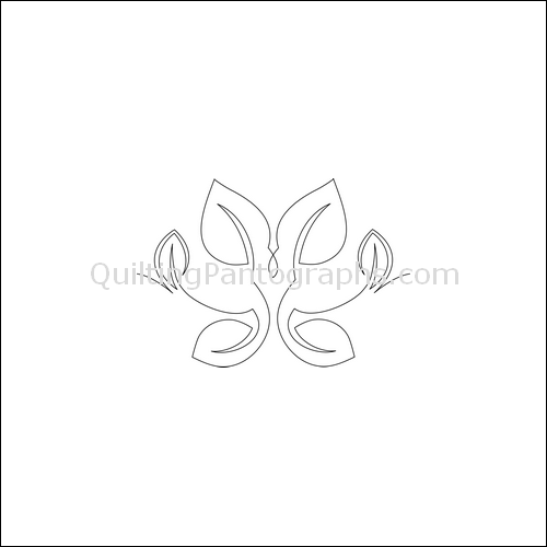 Dancing Leaves - quilting pantograph