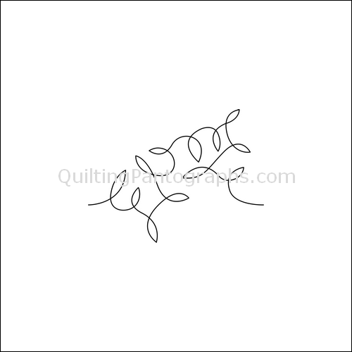 Flying Leaves - quilting pantograph