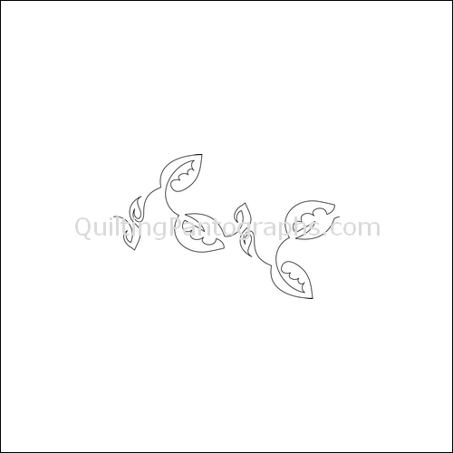 Lacey Leaves - quilting pantograph