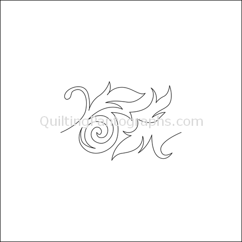Swirling Leaves Border - quilting pantograph