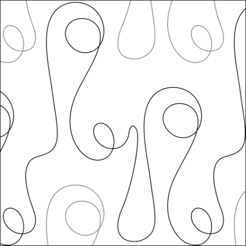 Bubble Loops - quilting pantograph