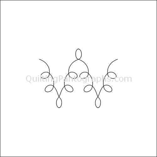 Missing Loops - quilting pantograph