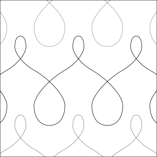 Poly Loops - quilting pantograph