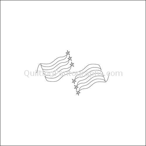 Grand Old Flag - quilting pantograph