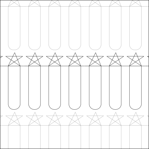 Stars and Stripes - quilting pantograph
