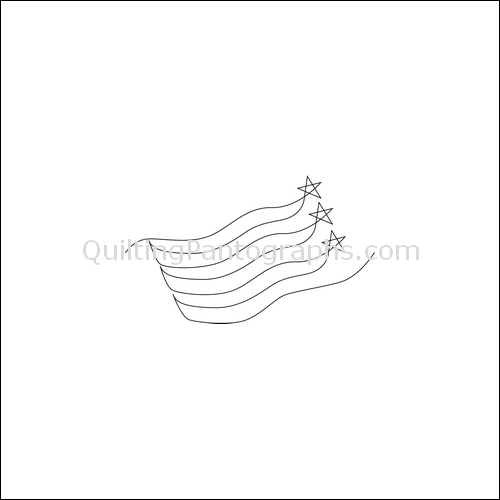 Waving Flag - quilting pantograph