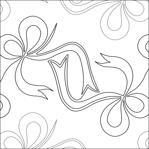 Bow Twist - quilting pantograph
