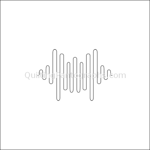 Radio Waves - quilting pantograph