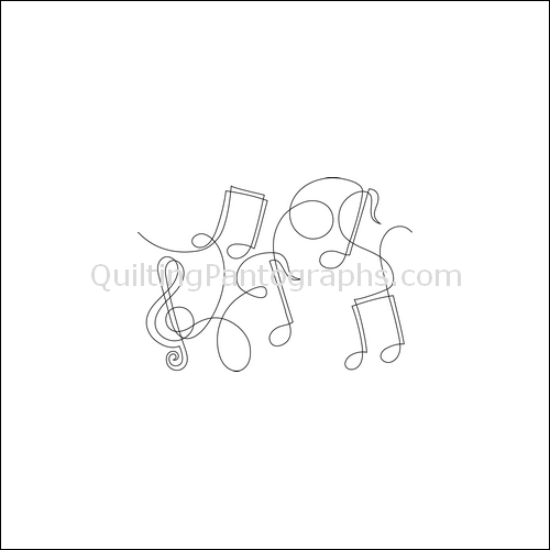 Music Notes - quilting pantograph