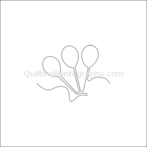 Birthday Balloons - quilting pantograph