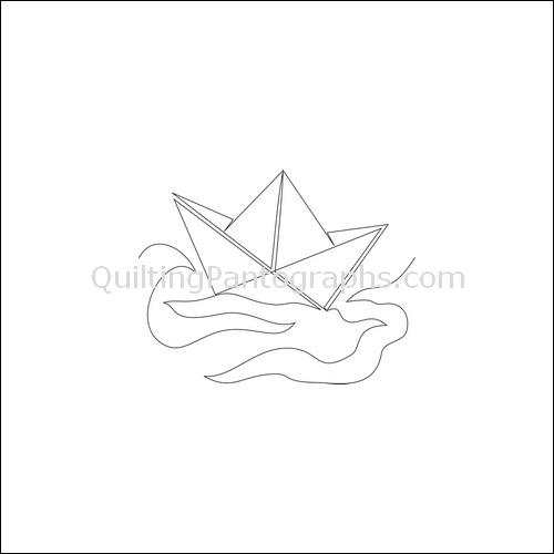 Rock the Boat - quilting pantograph