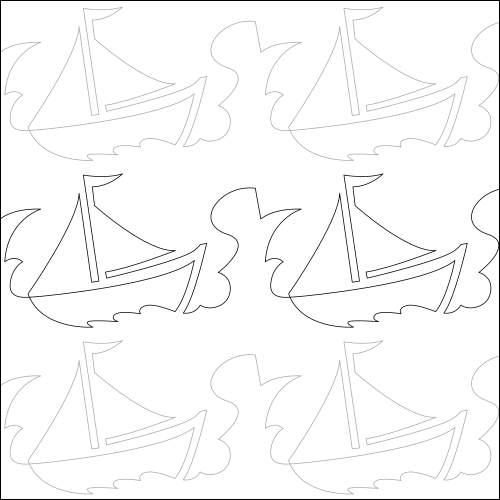 Sail Away - quilting pantograph