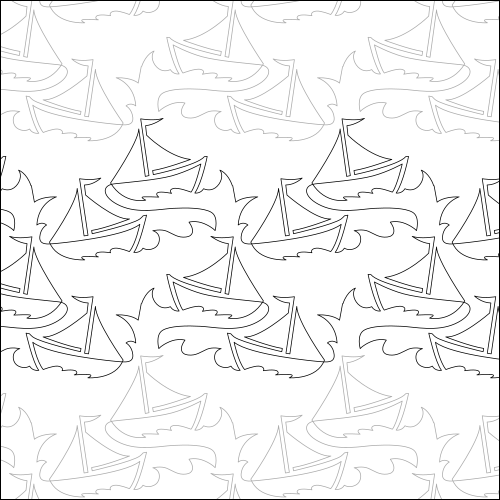 Sailboat Races - quilting pantograph