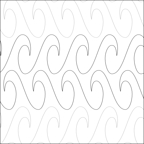 Tidal Wave - quilting pantograph